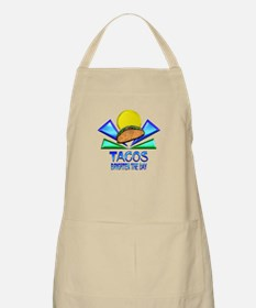 Tacos Brighten the Day Apron