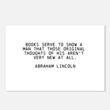 ABRAHAM LINCOLN QUOTE ON BOOKS Postcards (Package