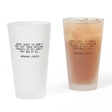 ABRAHAM LINCOLN QUOTE ON BOOKS Drinking Glass