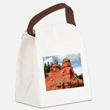 Red Canyon, Utah, USA (caption) Canvas Lunch Bag