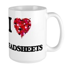 I love Spreadsheets Mugs