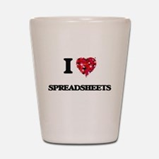 I love Spreadsheets Shot Glass