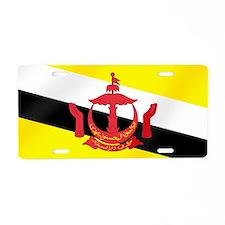 Flag of Brunei Aluminum License Plate