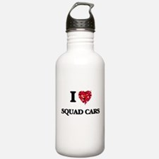 I love Squad Cars Water Bottle