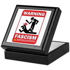 Warning fascism Keepsake Box