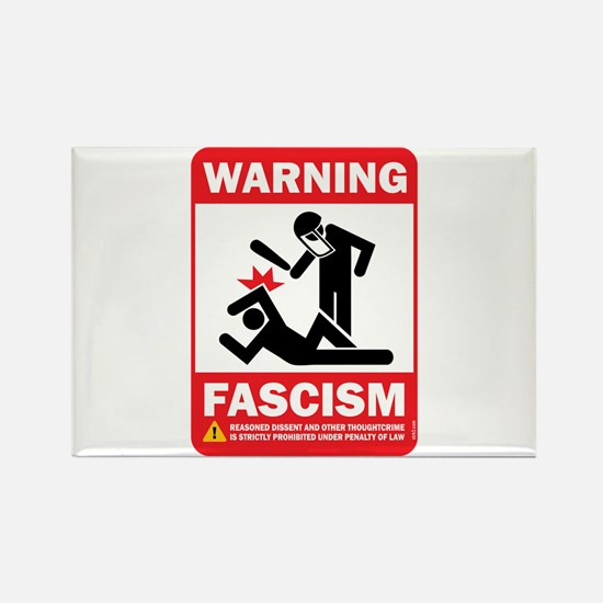 Warning fascism Rectangle Magnet