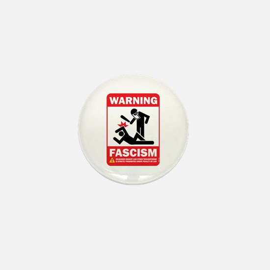 Warning fascism Mini Button