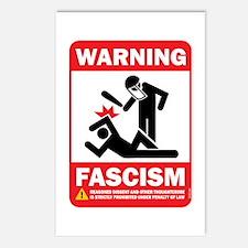 Warning fascism Postcards (Package of 8)