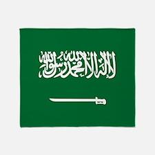 Flag of Saudi Arabia Throw Blanket