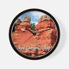 Red Canyon, Utah, USA (caption) Wall Clock