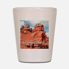 Red Canyon, Utah, USA (caption) Shot Glass