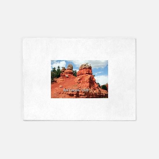 Red Canyon, Utah, USA (caption) 5'x7'Area Rug