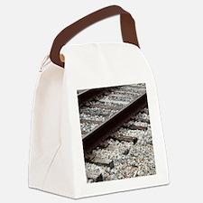 Railroad Track Canvas Lunch Bag