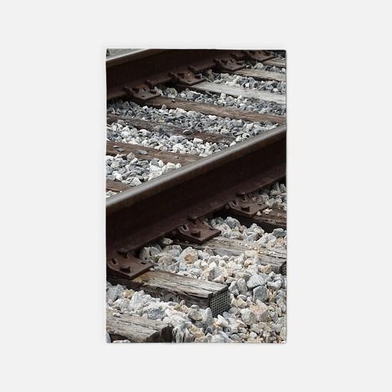 Railroad Track Area Rug