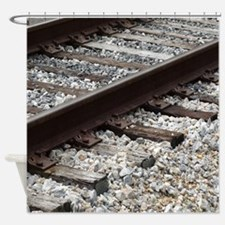 Railroad Track Shower Curtain