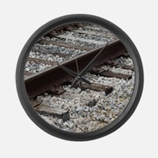 Railroad Track Large Wall Clock