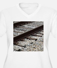 Railroad Track Plus Size T-Shirt
