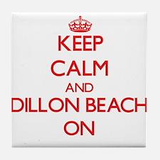 Keep calm and Dillon Beach California Tile Coaster