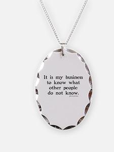 SHERLOCK HOLMES - IT IS MY BUS Necklace