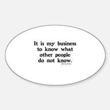 SHERLOCK HOLMES - IT IS MY BUSINESS Decal