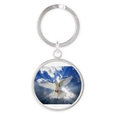 Unique Dove Round Keychain