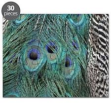 Elegant Peacock Feathers Puzzle