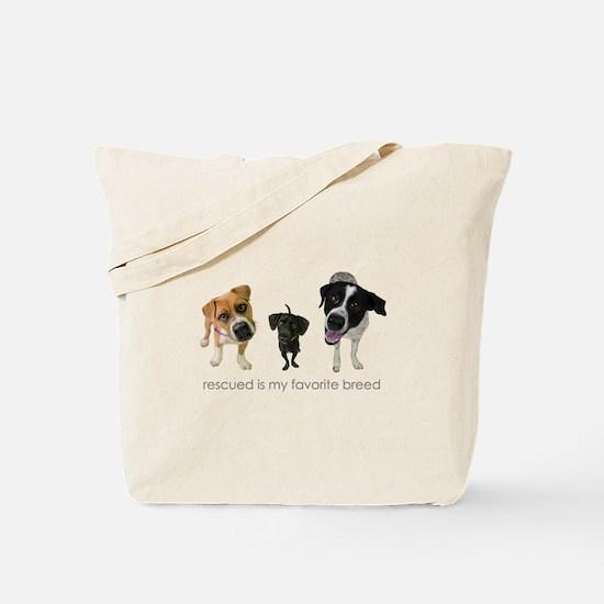 Rescued Favorite Breed Tote Bag