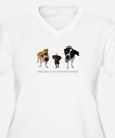 Rescued Favorite Breed Plus Size T-Shirt