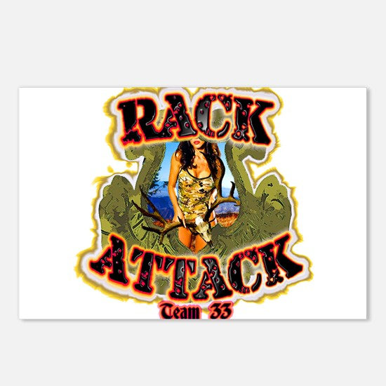 Team 33 Rack Attack Postcards (Package of 8)