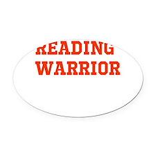Reading Warrior Orange Oval Car Magnet