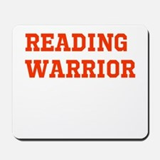 Reading Warrior Orange Mousepad