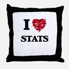 I love Stats Throw Pillow