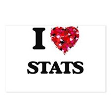 I love Stats Postcards (Package of 8)
