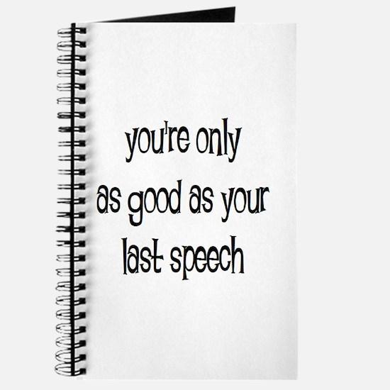 last speech Journal