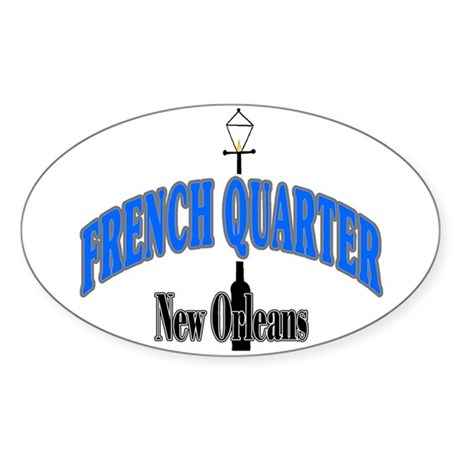 New Orleans Art Oval Sticker