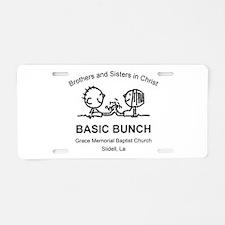 GMBC BASIC BUNCH Aluminum License Plate