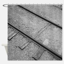 Oldtrack-Bw Shower Curtain