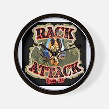 Team 33 Rack Attack Wall Clock