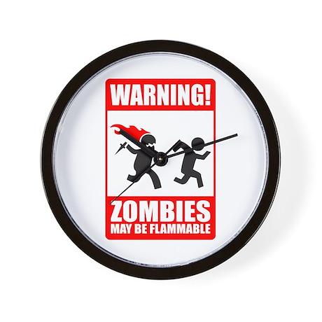 warning: zombies Wall Clock