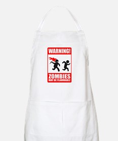 warning: zombies BBQ Apron