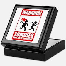 warning: zombies Keepsake Box