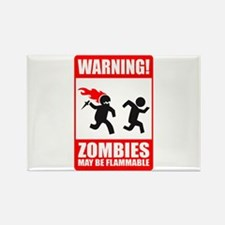 warning: zombies Rectangle Magnet