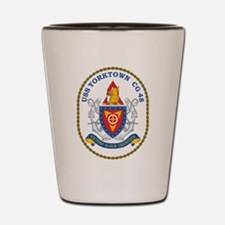 Uss Yorktown Cg 48 Crest Shot Glass