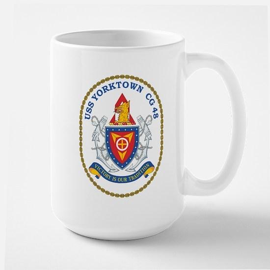 Uss Yorktown Cg 48 Crest Mugs