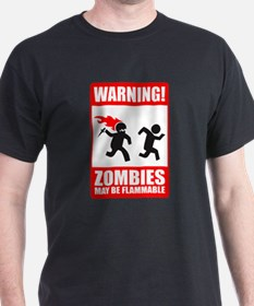 warning: zombies T-Shirt
