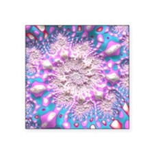 "Wild Trippy Psychedelic Fra Square Sticker 3"" x 3"""
