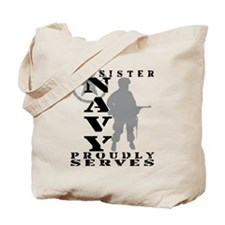 Sister Proudly Serves - NAVY Tote Bag
