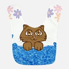 Kitty Cat in the Bath Tub Bib