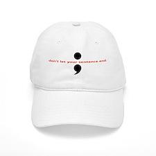 Semicolon Baseball Cap