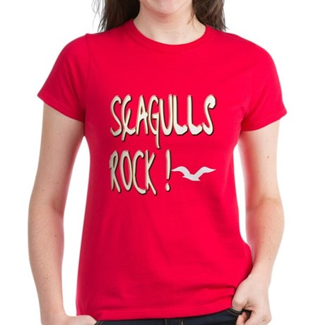 Seagulls Rock ! Women's Dark T-Shirt
